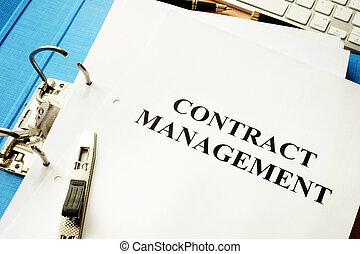 cartella, documenti, management., contratto, titolo