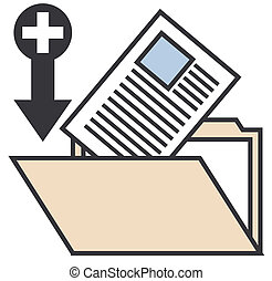 cartella, documenti