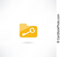 cartella, icona chiave