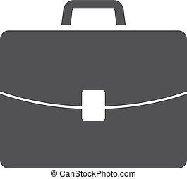 cartella, illustrazione, fondo., vettore, nero, bianco, icona
