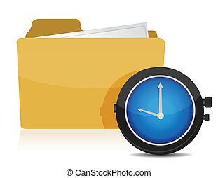 cartella, orologio