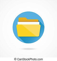 cartella, vettore, documenti, icona