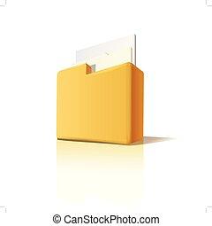 cartella, vettore, documenti