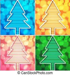 cartelle, albero, natale