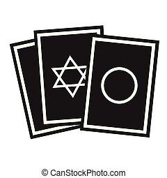 cartelle, appartamento, bianco, oracolo, illustrazione