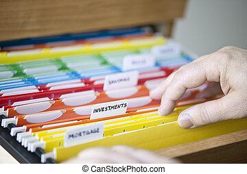 cartelle, documenti, finanziario