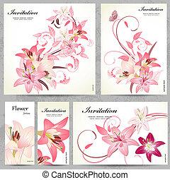 cartelle, floreale, progetto serie, tuo