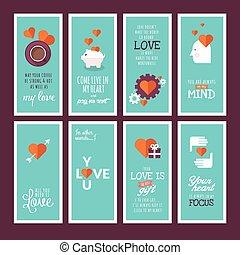 cartelle, giorno valentines, augurio