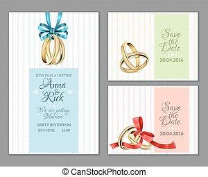 cartelle, invito, celebrare, matrimonio