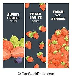 cartelle, luminoso, frutta