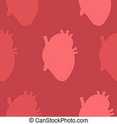 cartelle, rosa, cuore, pattern., giorno, seamless, valentine, disegno, fondo., invitations.