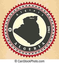 cartelle, vendemmia, label-sticker, algeria.