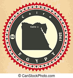 cartelle, vendemmia, label-sticker, egypt.