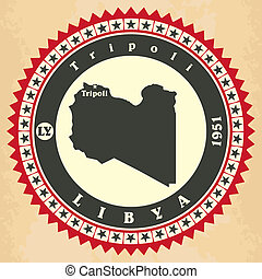 cartelle, vendemmia, label-sticker, libya.