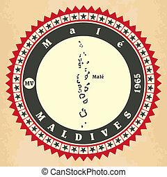 cartelle, vendemmia, label-sticker, maldives.