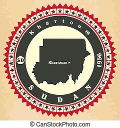cartelle, vendemmia, label-sticker, sudan.
