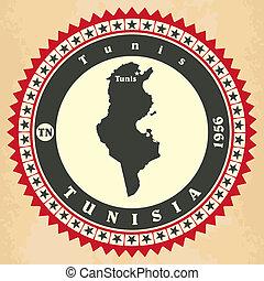 cartelle, vendemmia, tunisia., label-sticker