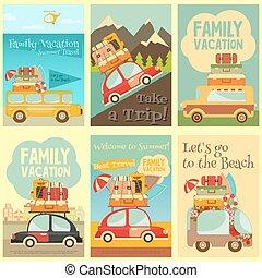 cartelle, viaggiare, set