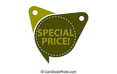 cartellino del prezzo, speciale, sagoma, isolato