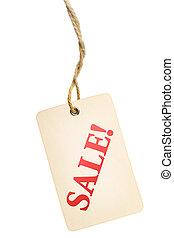 cartellino vendita, etichetta, appendere