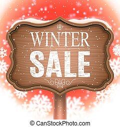 cartello, inverno, vendita