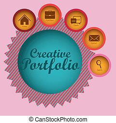 cartera, creativo