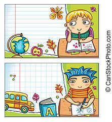cartes, 1, école