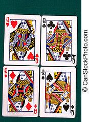 cartes, 11, tout, #queen