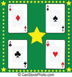 cartes, 2, jouer