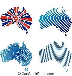 cartes, australien