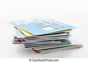 cartes, beaucoup, crédit