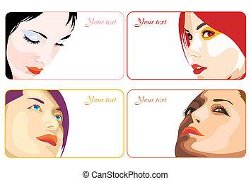 cartes, beauté, business