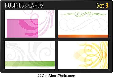 cartes, business, gabarit