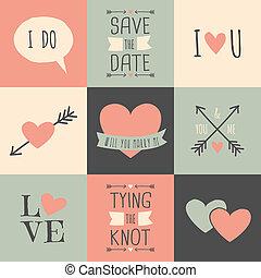 cartes, collection, mariage