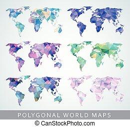cartes, collection, mondiale