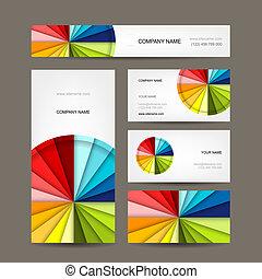 cartes, conception, collection, business, ton