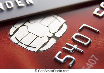 cartes, crédit, gros plan