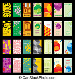 cartes, différent, vecteur, visite, dispositions