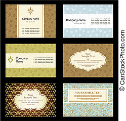 cartes, ensemble, business