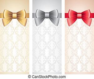 cartes, ensemble, cadeau