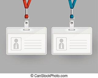 cartes, ensemble, identification, vide