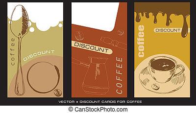 cartes, escompte, caffee