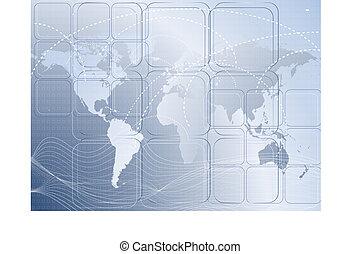 cartes, fond, mondiale