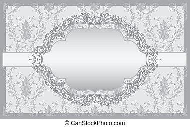 cartes, invitation, baroque