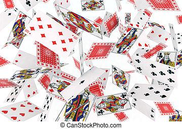 cartes, jouer, air