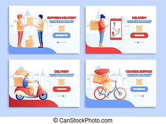 cartes, livraison, courrier