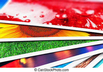 cartes, photo, pile
