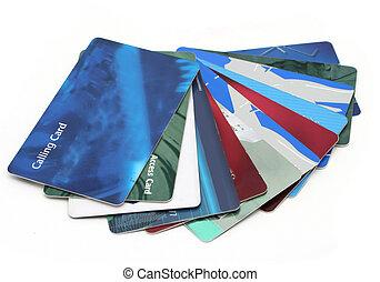 cartes, plastique