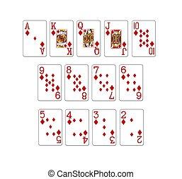 cartes, poker, ensemble, illustration
