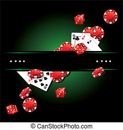 cartes, poker, puces casino, fond